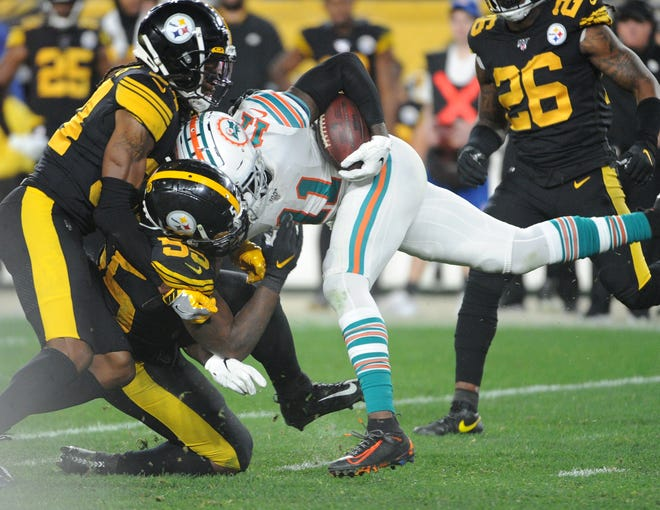 32. Dolphins (Previously: 32): They nearly enjoyed a full half of prosperity Monday night in Pittsburgh. Then there was a 53-man reversion to 0-16 form.