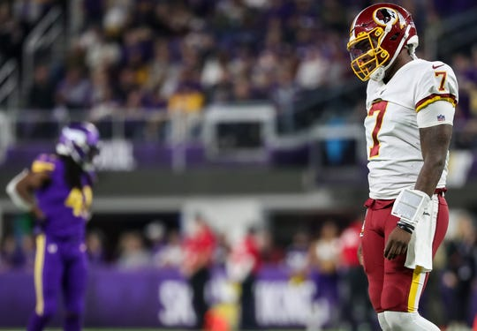 30. Redskins (30): You've got to wonder if Jay Gruden is snickering every time obviously not-ready-for-prime-time Dwayne Haskins is pressed into service.