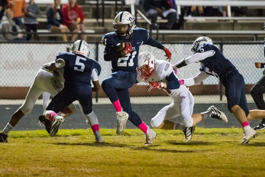 Powdersville freshman Thomas Williams had five touchdowns in his varsity debut.
