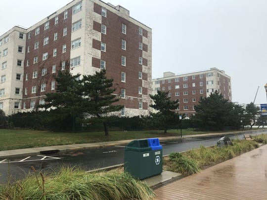 Sea View Towers, a shuttered apartment complex at the Long Branch beachfront, has been designated for redevelopment. It is seen here on Oct. 30, 2019.