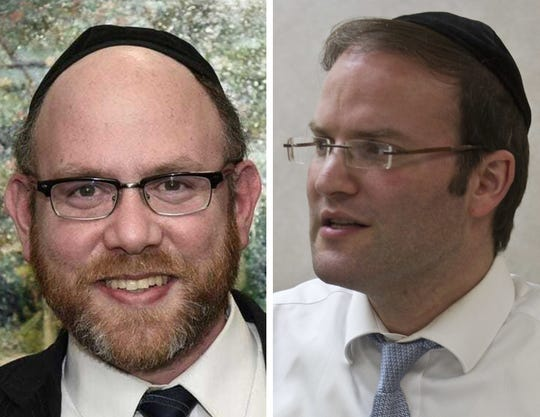 "Candidates for Lakewood Township Committee: Moshe Raitzik, Democrat (left) and Committeeman Al ""Isaac"" Akerman, Republican (right)"