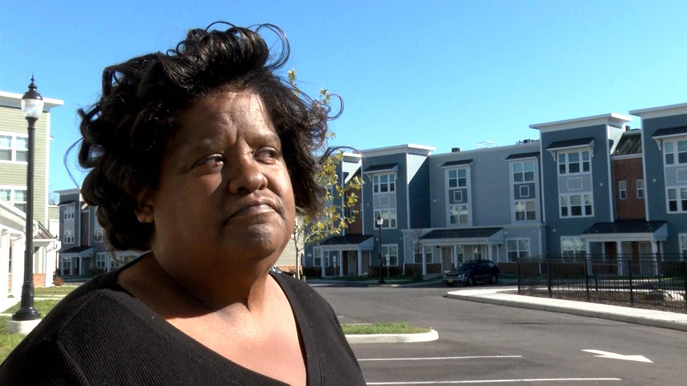 Linda Jones is shown at the Boston Way development Thursday, October 24, 2019, in Asbury Park.  She is currently homeless and her application for a place to live here was denied.