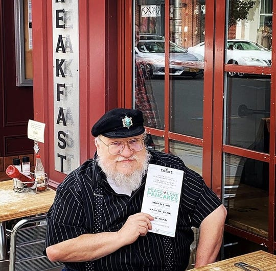 George R.R. Martin at Toast in Asbury Park.