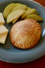 Make your handpies round or square, whatever your fancy. Round ones can be made with a biscuit cutter or glass; square can be cut into shape with a knife.