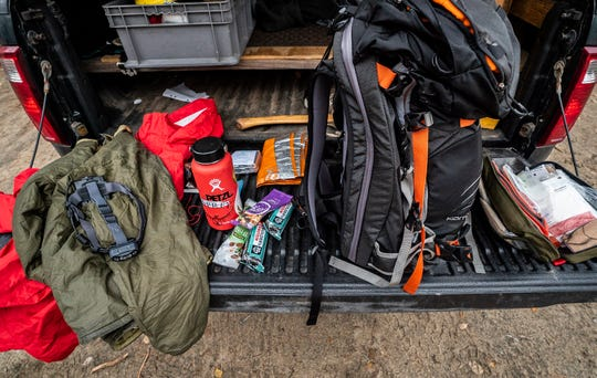 "A headlamp, paper map and compass, a waterproof shell, 'puffy' jacket, extra food and water, a first aid kit, even a space blanket and light-weight bivy make up New York State Forest Ranger Jim Giglinto's basics that he takes into the woods every time. He says every hiker should have these ""ten essentials"" every time they hike."