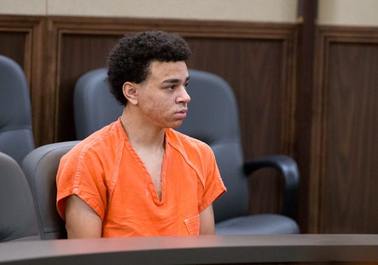 Zechariah Lemmons, 16, is going to be tried as an adult for shooting at police officers. He appeared in the 148th District Court on Wednesday. Oct. 30.