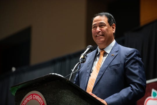 Corpus Christi Independent School District Superintendent Roland Hernandez speaks during the Corpus Christi Education Foundation's annual State of the District luncheon at the American Bank Center on Wednesday, Oct. 30, 2019.