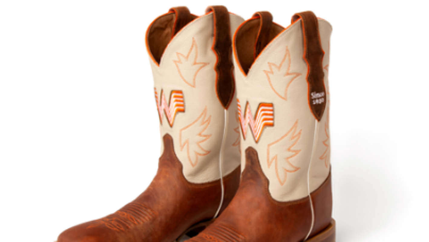 Whataburger partners with Justin Boots for custom-branded boots