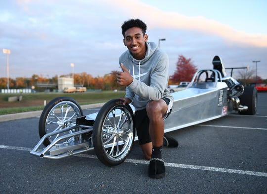 Seneca senior running back/cornerback Travis Laster Jr. drag races with his family up and down the East Coast.