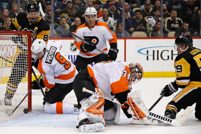 The Flyers had a lot of recent success in Pittsburgh, but that came to a screeching halt Tuesday night.