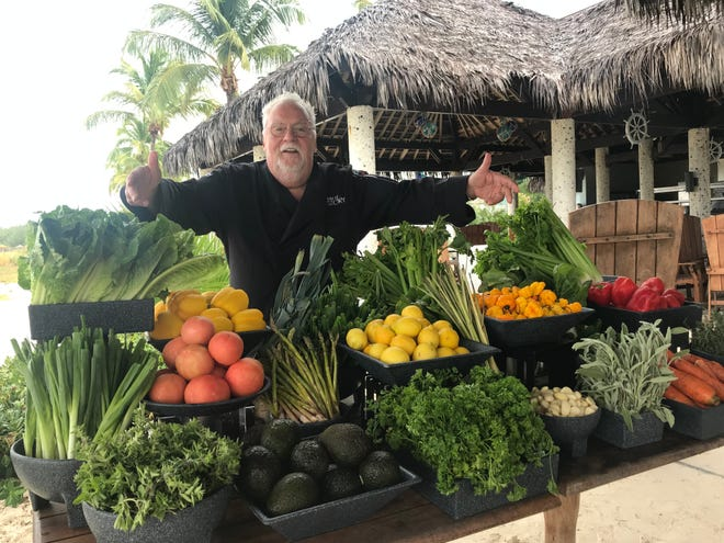 """A Taste of History"" TV series Chef Walter Staib of Philadelphia showcases the fresh fruits and vegetables he uses in his cooking shows filmed around the world from Colonial sites in America to the Caribbean, France and China."