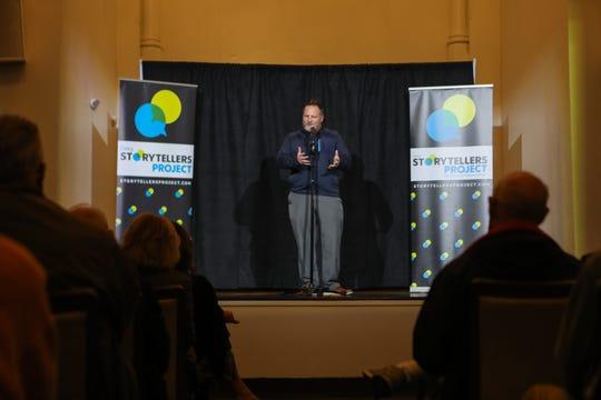 The Cincinnati Enquirer's Politics Extra columnist, Jason Williams shares his story at Cincinnati Storytellers: Growing Up on Tuesday Oct. 29, 2019.