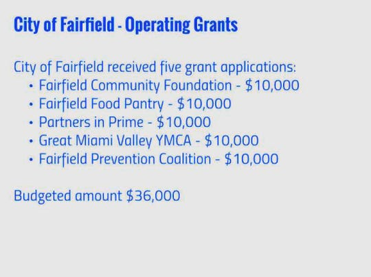 Fairfield will phase out a program that gave city funds to nonprofit groups for projects in the city