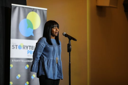 Nickey Stevenson, Owner of Southern Grace Cincy, tells her story at Cincinnati Storytellers: Growing Up on Tuesday Oct. 29, 2019.