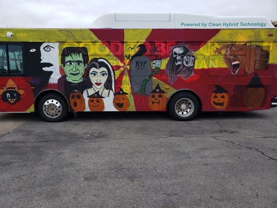 Clarksville Academy art students have painted the bus with special Halloween oriented designs for the past 25 years.