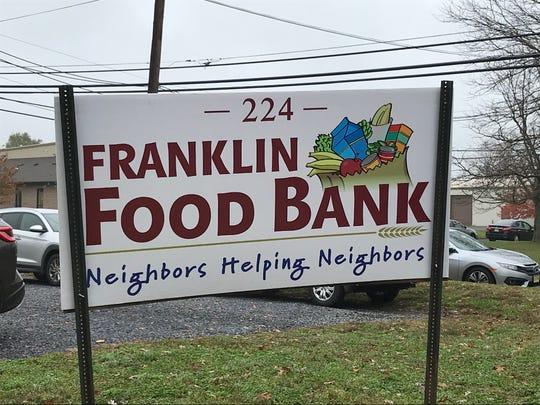 Franklin Food Bank sign