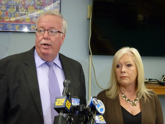 Woodbridge Mayor John McCormac and Councilwoman Debbie Meehan.
