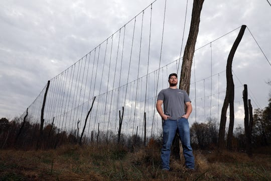 Jared Adams has been growing hops on his land near Keene for the past few years. He started Coshocton Hops with his wife Jandi, and plans on selling hops to Ohio breweries.