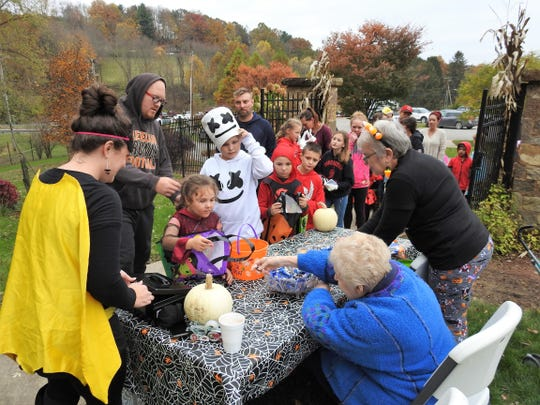 Several hundred people showed up Tuesday at Clary Gardens for its fourth annual Trail of Treats event.