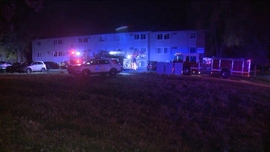 A fire at apartment building at 3720 Martin Luther King Jr. Parkway in Des Moines forced the evacuation of residents on Oct. 30, 2019.