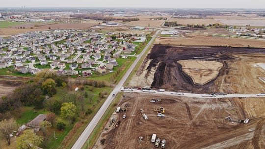 Amazon's Project Bluejay site on Wednesday, Oct. 30, 2019 in Bondurant.
