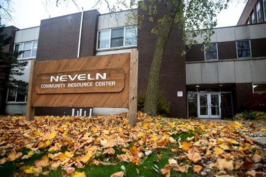 Outside the Neveln Center on Wednesday, Oct. 30, 2019, in Ankeny.