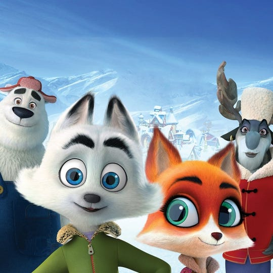 """Jeremy Renner supplies the voice of Swifty, center, in """"Arctic Dogs."""""""