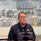 Michigan Wolverines offensive line coach Ed Warinner speaks to the media on Wednesday, Oct. 30, 2019, in Ann Arbor.