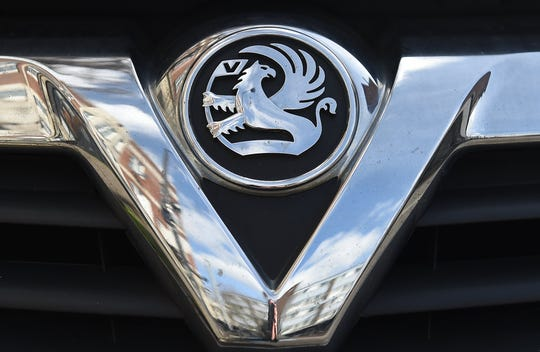 A Vauxhall logo on a vehicle in London on March 6, 2017.