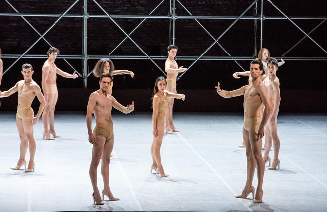 """Members of the Joffrey Ballet are seen in an excerpt from """"Joy,"""" choreographed by ,"""" choreographed by Swedish dancer/choreographer Alexander Ekman. The work will be presented Nov. 2-3 as part of Michigan Opera Theatre's dance series at the Detroit Opera House."""