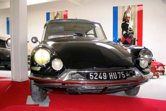A Citroen DS19 car used by late French President Charles de Gaulle, photographed June 13, 2006, in  Montjalin, central France.