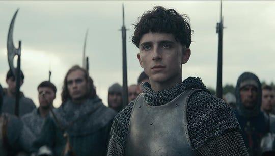 "Timothee Chalamet in ""The King."""