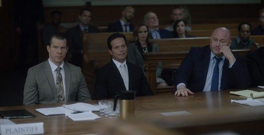 "Eric Mabius, Will Sasso, and Scott Wolf in ""Inside Game."""