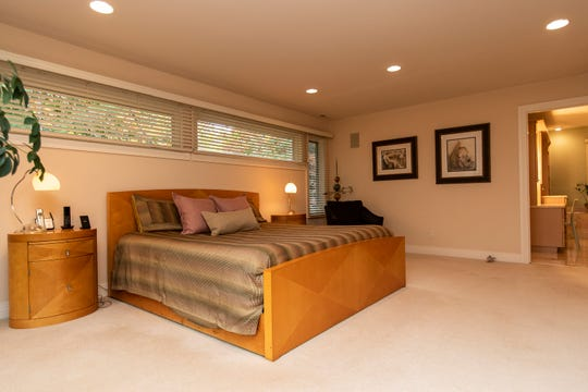 Master bedroom of the house in Bloomfield Hills, Tuesday, Oct. 29, 2019.