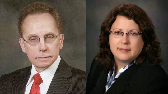 Warren mayor Jim Fouts and City Councilwoman Kelly Colegio face off in the Nov. 5 election.