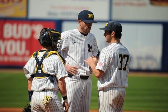 Michigan pitching coach Chris Fetter
