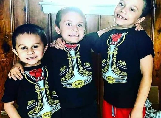 The Zavala brothers: Manolo, 3, Ramiro, 5 and Juan, 8.