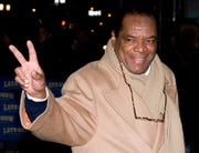 """John Witherspoon leaves a taping of """"The Late Show with David Letterman"""" in 2009 ."""