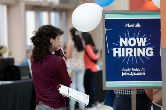 Hiring was solid in the health care industry and among employers with more than 50 workers, but the longest economic expansion in U.S. history has limited the number of people seeking jobs.