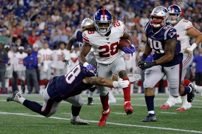 Paul Perkins, who the Lions picked up off of waivers from the Giants, had three carries for four yards in six snaps of action with the Lions.