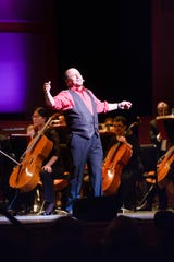 Jason Alexander, shown here with the New Jersey Symphony Orchestra, will appear at Detroit's Orchestra Hall Saturday and Sunday.