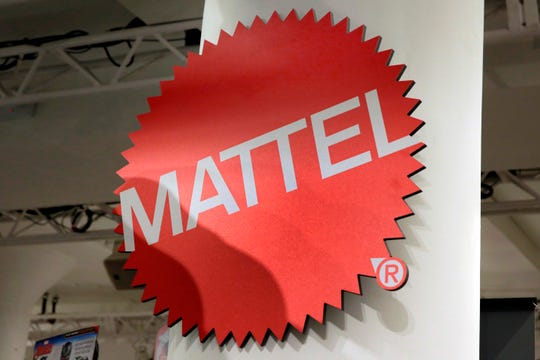 FILE - This April 26, 2018, file photo shows the Mattel logo at the TTPM 2018 Spring Showcase in New York.