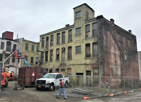 Arbor Housing and Development is rehabilitating this long vacant building on Carroll Street in Elmira into artist studio and gallery space.