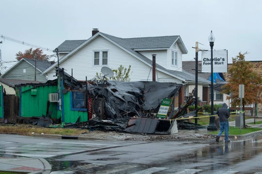 The building that last housed the out-of-business Charlie's Food Mart at 1400 Main Street in Evansville burned to the ground early this Wednesday morning, October 30, 2019. An emergency raze order has been requested by the Evansville Fire Department.