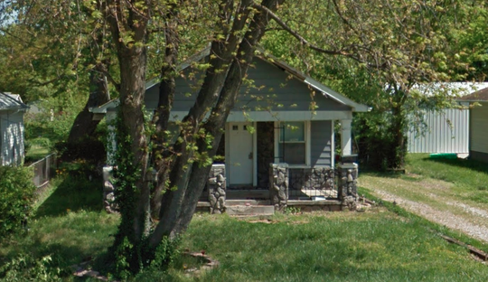 The home at 2608 N. Kentucky avenue where tons of trash were removed by the city.