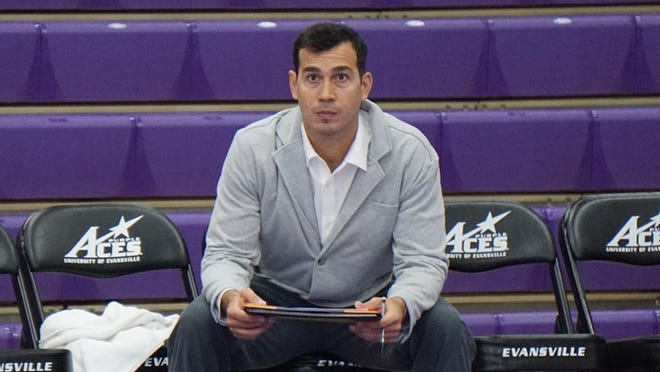 UE volleyball coach Fernando Morales