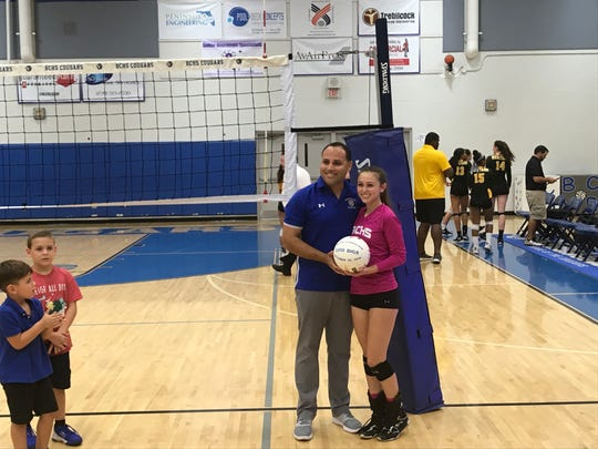 Barron Collier senior Olivia D'Agostino picked up her 1,000th career dig in the Cougars' three-set sweep of American Heritage to advance to a 5A regional final Tuesday night.