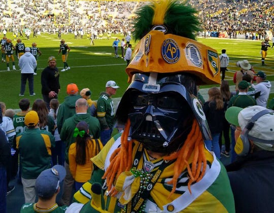 Edgar Reyes has been dressing as Pack Vader for five seasons. Don't tell anyone, but the diehard Packers fan lives in Chicago.