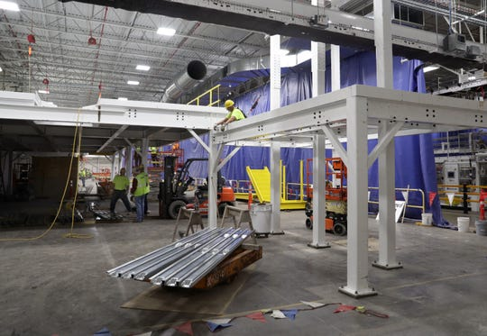 Construction for another production line at the Kimberly-Clark Cold Spring Facility on Tuesday, October 29, 2019, in Fox Crossing, Wis. Wm. Glasheen/USA TODAY NETWORK-Wisconsin