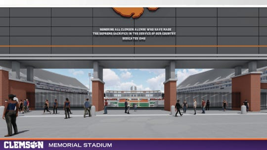 Proposed plans could see a widened Williamson Road entrance and pedestrian pathway in front of Memorial Stadium.